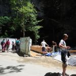 Staveniště u vstupu do Punkevní jeskyně