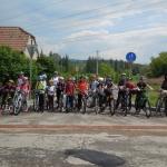 Začátek cyklostezky v Oslavanech.