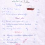 Jídelníček - Adéla Bulantová