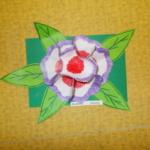 Plastické květy 016