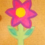 plastický květ 030