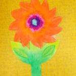 plastický květ 032