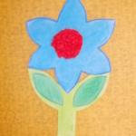 plastický květ 034