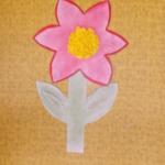 plastický květ 037