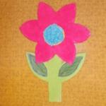 plastický květ 038