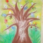 Jarní strom z rukou 020
