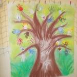 Jarní strom z rukou 021