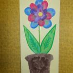 plastický květ 005