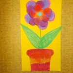 plastický květ 014