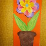 plastický květ 016