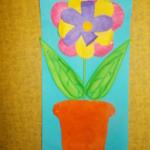 plastický květ 017