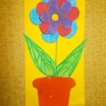 plastický květ 018