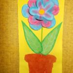 plastický květ 021