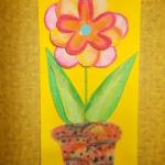 plastický květ 022