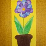 plastický květ 023