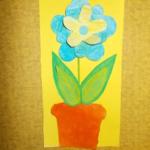 plastický květ 026